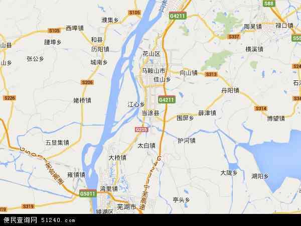 当涂青山河高新技术产业园区地图