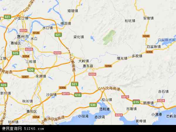 惠东县港口海龟湾自然保护区地图