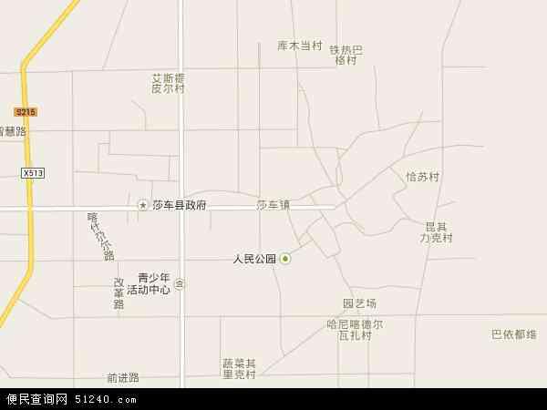 中国新疆维吾尔自治区喀什地区莎车县莎车县第一林场(国营苗圃)地图