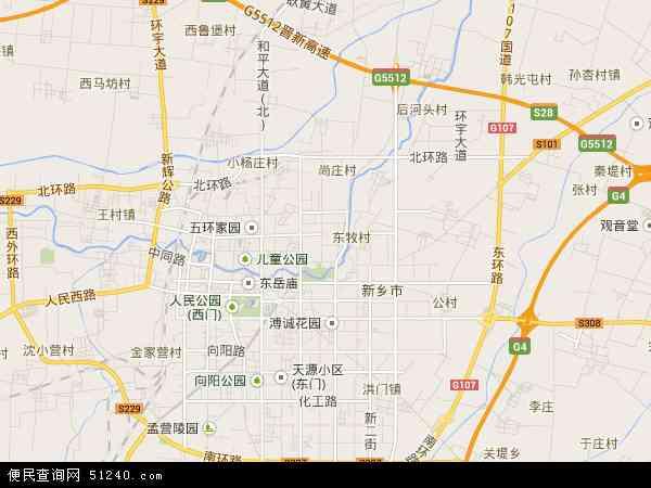 中国河南省新乡市牧野区新乡化学与物理电源产业园区管理委员会地图