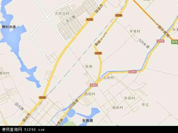 中国山西省运城市盐湖区安邑地图(卫星地图)