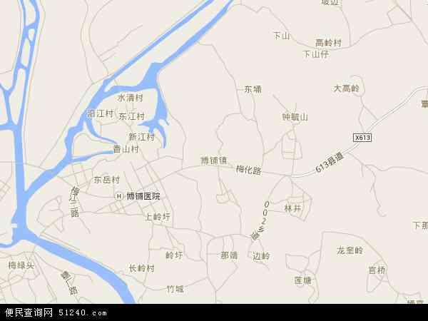 中国广东省湛江市吴川市博铺地图(卫星地图)