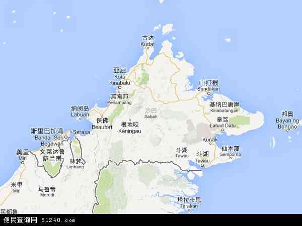 马来西亚沙巴古纳地图(卫星地图)
