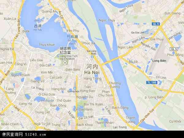 越南河内地图(卫星地图)图片