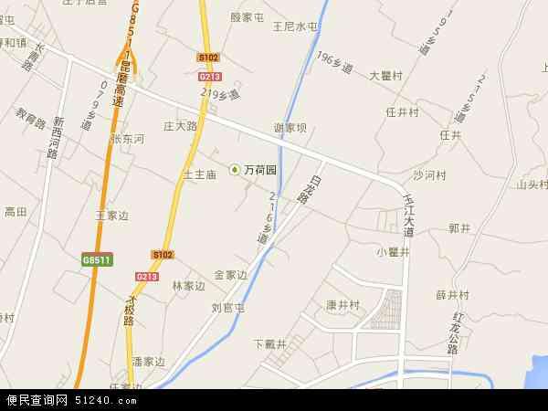 中国云南省玉溪市红塔区李棋地图(卫星地图)