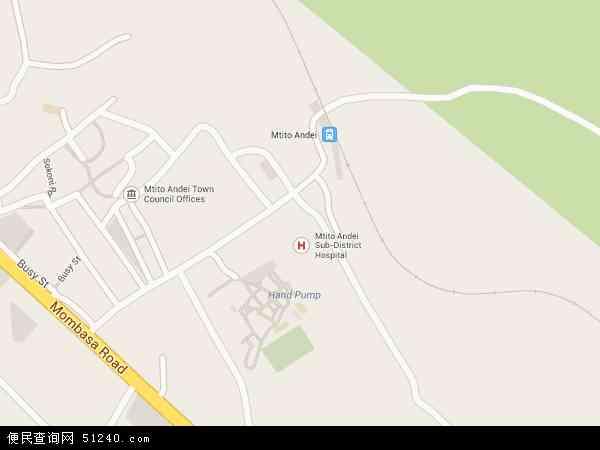肯尼亚尼蒂地图(卫星地图)