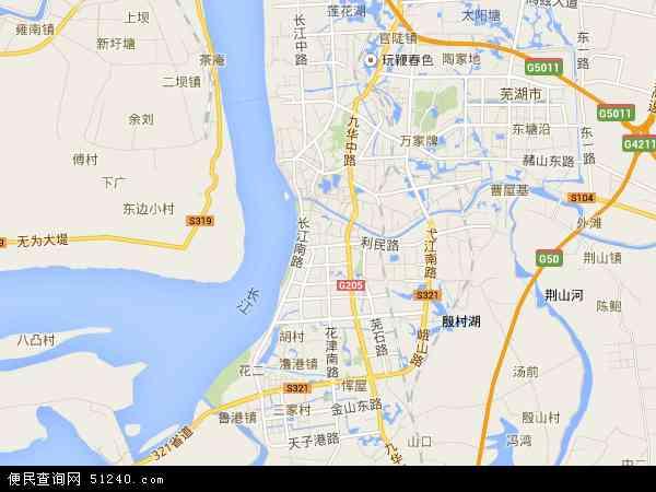 欢愹��zf�Z������_中国安徽省芜湖市弋江区瀂港地图(卫星地图)