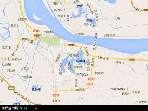 湖北省鄂州地图_国内游湖北旅游