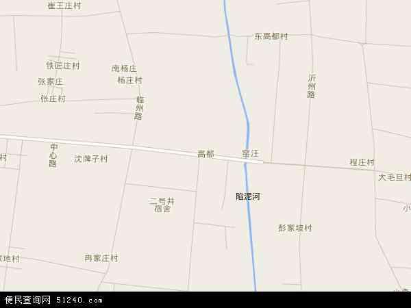 中国山东省临沂市罗庄区高都地图(卫星地图)
