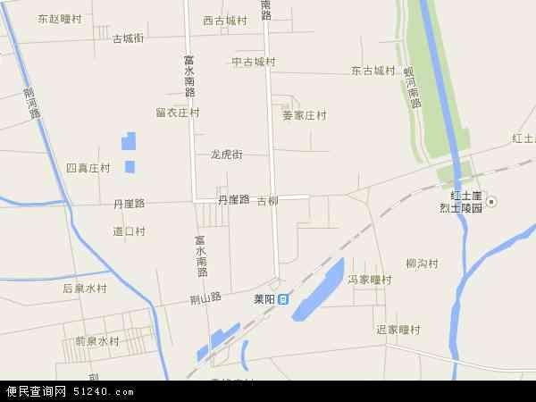 中国山东省烟台市莱阳市古柳地图(卫星地图)