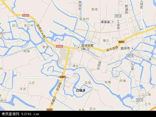 中国福建省莆田市涵江区涵西地图(卫星地图)