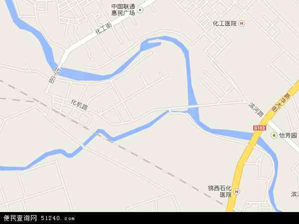 中国辽宁省葫芦岛市连山区化机地图(卫星地图)