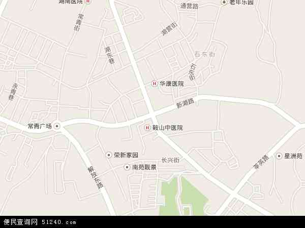 湖南地图 - 湖南电子地图