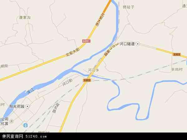 中国吉林省白山市浑江区河口地图(卫星地图)