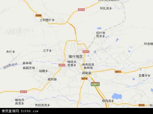 喀什市地图 - 喀什市卫星地图 - 喀什市高清航拍