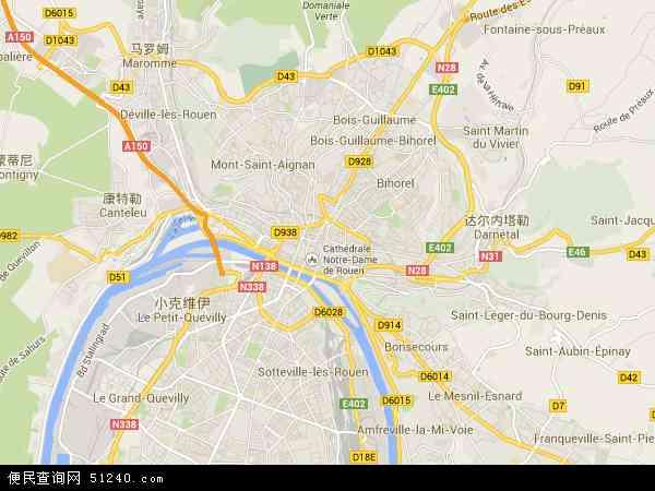法国鲁昂地图(卫星地图)