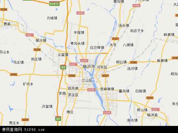 临沂市地图 - 临沂市卫星地图