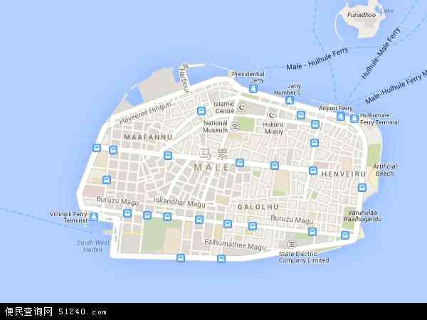 马尔代夫共和国地图_