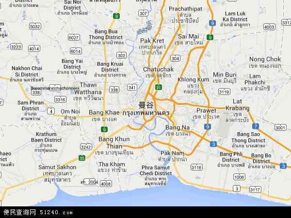 最新曼谷地图,2016曼谷地图高清版