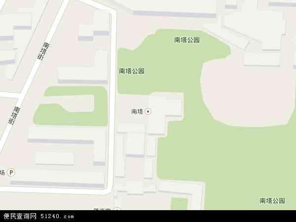 中国辽宁省沈阳市沈河区南塔地图(卫星地图)