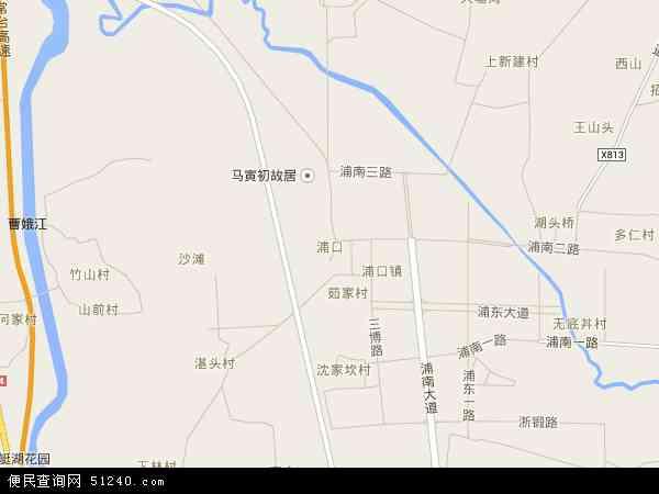浦口地图 - 浦口卫星地图