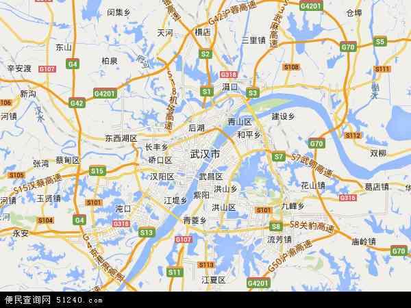 武汉市地图 - 武汉市电子地图 - 武汉市高清地图 - 2018年武汉市地图图片