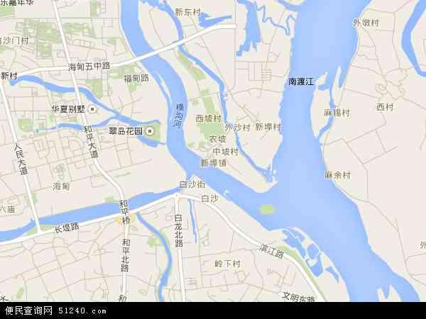 中国海南省海口市美兰区新埠地图(卫星地图)