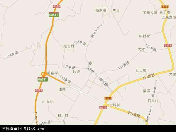 中国云南省玉溪市红塔区研和地图(卫星地图)