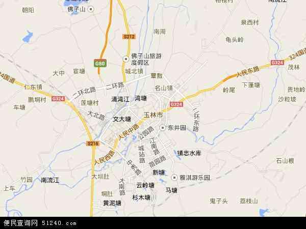 玉林市地图 - 玉林市电子地图 - 玉林市高清地图 - 2019年玉林市地图图片