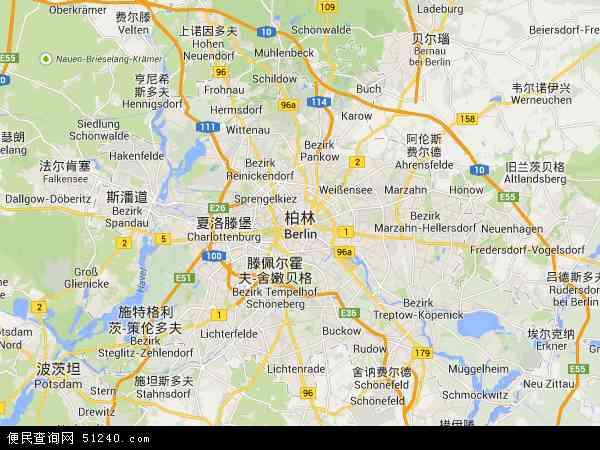 博茨瓦纳地图_柏林地图 - 柏林卫星地图 - 柏林高清航拍地图
