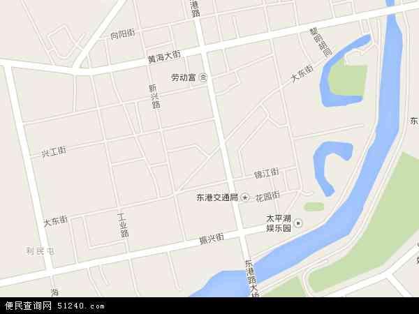 中国辽宁省丹东市东港市大东地图(卫星地图)
