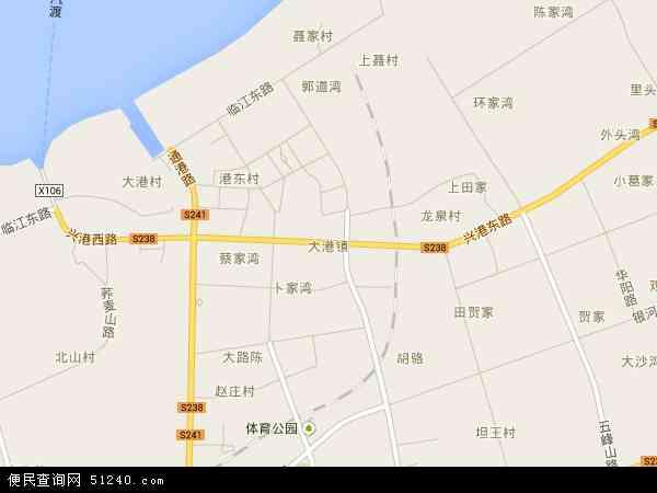 中国江苏省镇江市京口区大港地图(卫星地图)