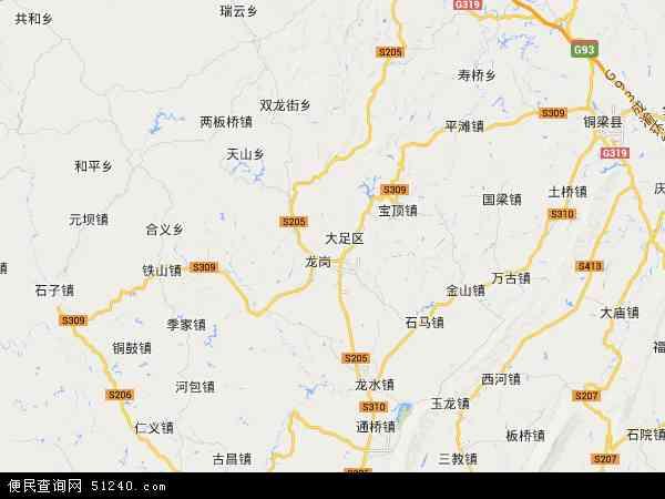 大足区地图 - 大足区电子地图