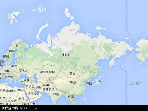 俄罗斯地图 - 俄罗斯卫星地图