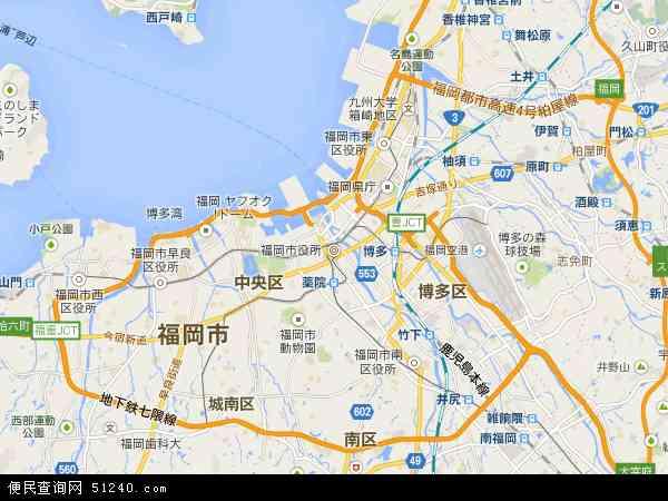福冈地图 - 福冈卫星地图