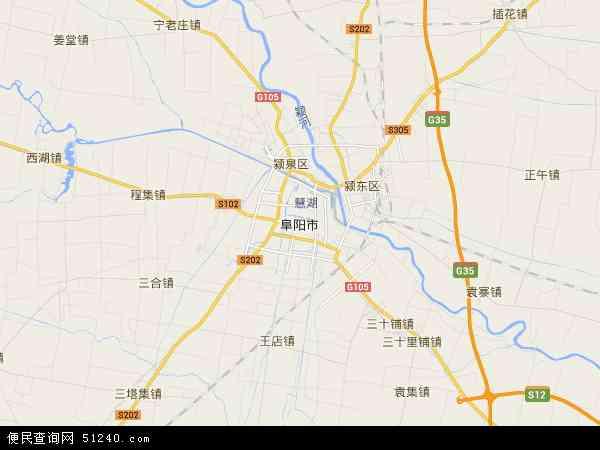 阜阳市地图 - 阜阳市卫星地图图片
