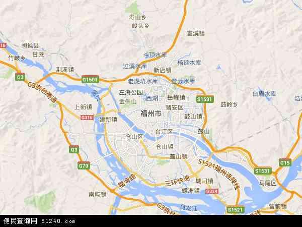 福州市高清航拍地图