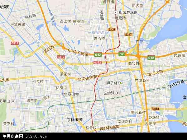 中国江苏省苏州市姑苏区地图(卫星地图)
