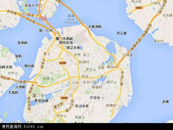 中国福建省厦门市湖里区地图(卫星地图)