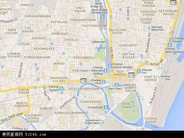 印度金奈地图(卫星地图)
