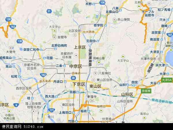 京都地图 - 京都卫星地图