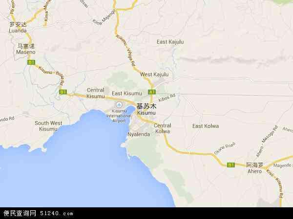 肯尼亚基苏木地图(卫星地图)