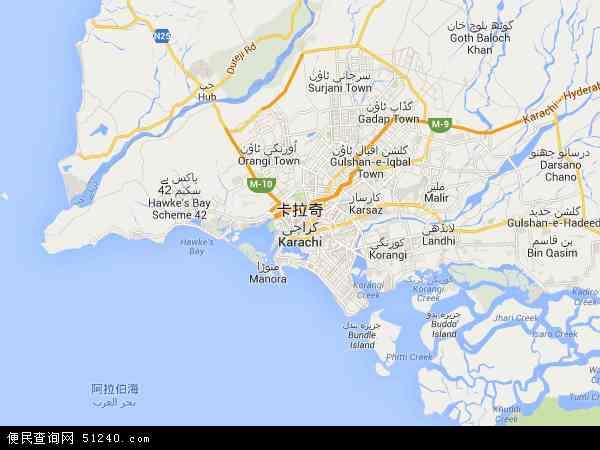 博茨瓦纳地图_卡拉奇地图 - 卡拉奇卫星地图 - 卡拉奇高清航拍地图
