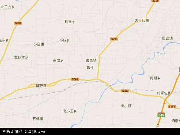 中国河北省保定市蠡县地图(卫星地图)