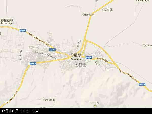 土耳其马尼萨地图(卫星地图)