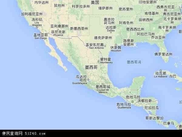 墨西哥地图 - 墨西哥电子地图