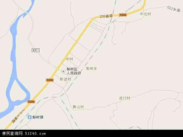 中国黑龙江省鸡西市梨树区穆棱地图(卫星地图)
