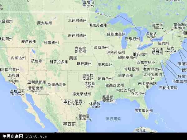 美国高清卫星地图_美国地图 - 美国卫星地图 - 美国高清航拍地图