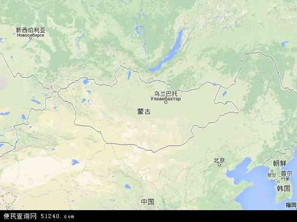 蒙古地图 - 蒙古电子地图 - 蒙古高清地图 - 2016年蒙古地图