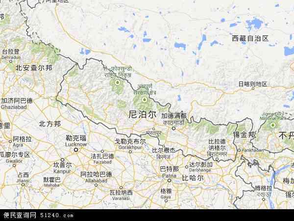 尼泊尔地图 - 尼泊尔电子地图 - 尼泊尔高清地图 - 2016年尼泊尔地图